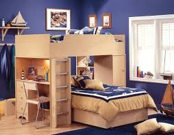 image of childrens loft bed with desk and futon