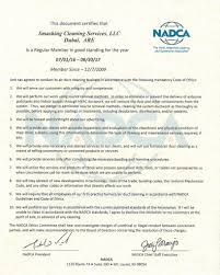 nadca certificate air system cleaning specialist certificates