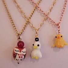 bird pendants duck or owl on 15