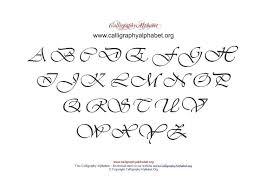 Pdf Calligraphy Alphabet Chart Uppercase Calligraphy