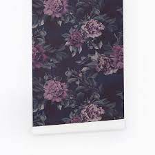 Dark floral wallpaper for baby nursery ...