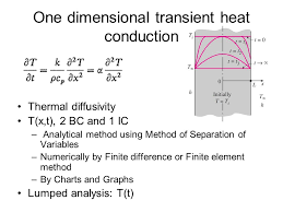 one dimensional transient heat conduction
