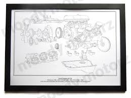 tvr ford cologne v6 engine diagram schematic framed print a2 a3 size tvr ford cologne v6 engine diagram schematic framed print a2 a3 size poster