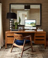 wallpaper for home office. contemporary home office with chrome ball table lamp light modern black shade interior wallpaper for