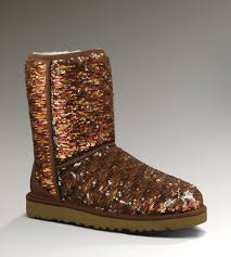 UGG Classic Short Sparkles Boots 1002766 Chestnut Hot Sale