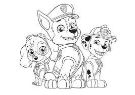 Disegni Chase Marshal E Skye Paw Patrol Da Colorare