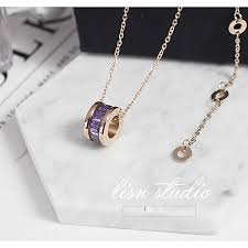 7 titanium steels plate a colourful necklace of gold rose gold of 18 k not to
