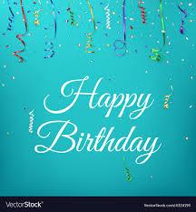 Happy Birthday Celebration Background Template