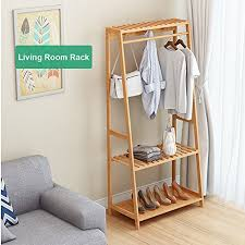 Coat Rack With Storage Shelves Best Ufine Garment Rack Bamboo Wood Entryway Coat Rack 32 Tiers Shoe