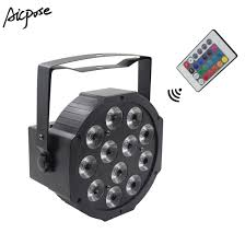 Led Equipment Lights China 12x12w Led Par Lights Rgbw 4in1 With Remote Control