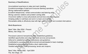 Impressive Banking Resume Example For Bank Teller Position With