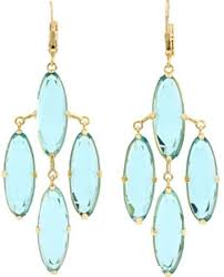 kate spade kahina chandelier earrings in blue a lyst