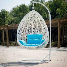 outdoor rattan hanging egg chair