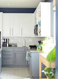 White And Gray Kitchen Kitchen Cabinets Gray And White Quicuacom