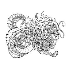 Kleurplaat Chinese Draak