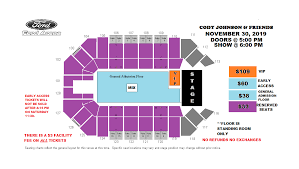 Ford Arena Beaumont Tx Seating Chart Cody Johnson Friends Ford Park