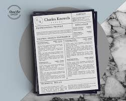Charles Knowels Resume 5 Pack For Ms Word And Apple Pages Stand