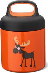 <b>Термос</b> для еды LunchJar Moose <b>0.3л</b>, оранжевый