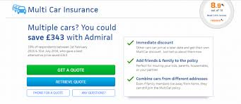 multi car insurance contact admiral helpline