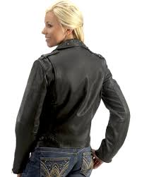scully studded collar leather jacket black hi res