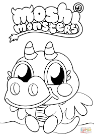 Monster Coloring Pages For Kids Printable With Monster Coloring