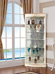Living Room Cabinets With Glass Doors Living Room Furniture Modern Design Corner Curio Cabinet With