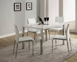 clear glass piece dining set table andr chairs oak small berlin white high gloss on dining
