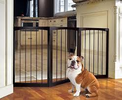 standing wooden pet gate