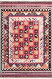 aztec area rug tribal red 5 blue