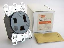 50 amp receptacle new arrow hart 5709 welder outlet 2 pole 3 wire 250 vac 50