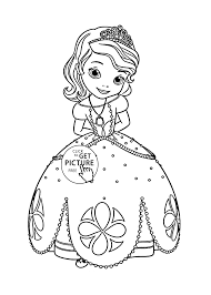Small Picture Princess Sofia coloring page for kids disney for girls coloring