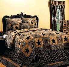 French Country Quilts Bedding Country Star Quilt Bedding French ... & Country Star Quilt Bedding Country And Primitive Bedding Quilts Vintage Star  Black Bedding By Ihf Country Adamdwight.com