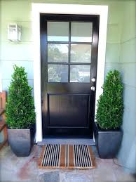 exciting wood exterior doors with glass black wooden entry door with six glass panel combined potted exciting wood exterior doors with glass
