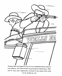 Small Picture USA Printables The Wells Fargo Wagon US History Coloring Pages
