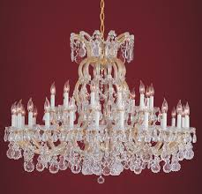 crystorama maria theresa 37 light clear crystal gold chandelier