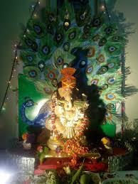 peacock pooja thali simple craft ideas