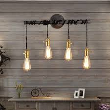exposed lighting. industrial 4light plumbing pipe hanging exposed bulb metal wall light lighting c