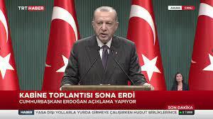 TRT Haber - Cumhurbaşkanı Recep Tayyip Erdoğan, Kabine Toplantısı sonrası  açıklama yapıyor. | Faceboo