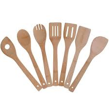 free bamboo cooking utensils set 7 pack kitchen tools wooden spoons and spatula 11 8