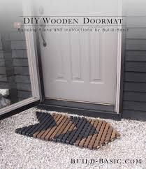 build a diy wooden doormat