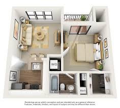 1 bedroom house plans 3d modern home decor at 3d
