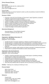 Clinical Assistant Resume Nmdnconference Com Example Resume And
