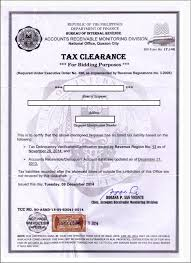 Clearance Certificate Sample Bir Tax Clearance Corporation Requirements Onestepahead470