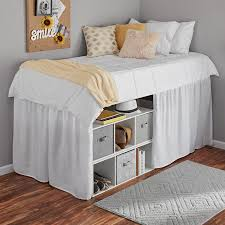 extra long bed skirt. Contemporary Extra Mainstays Extra Long Extended Dorm Bed Skirt Intended Walmart