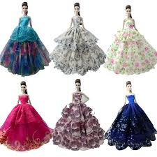 Barbie Princess Dress Design Us 1 72 16 Off Nk One Pcs 2019 Princess Wedding Dress Noble Party Gown For Barbie Doll Fashion Design Outfit Best Gift For Girl Doll 058a Jj In