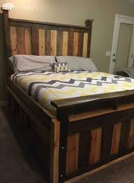 pallet king size bed two toned pallet king size bed frame king size bed frame bed