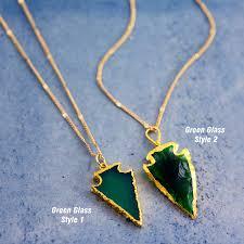 24 k arrow pendant necklace