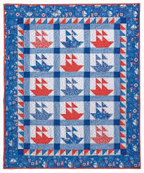 79 best Quilt - Boat images on Pinterest | Nautical quilt ... & Nautical Sailboat Crib Quilt Pattern by Jo-Lydia's Attic Adamdwight.com