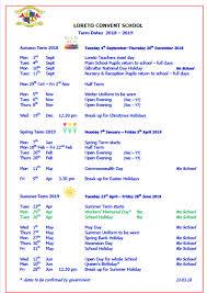 Loreto Convent School Gibraltar | 2018-2019 Term Dates - Loreto ...