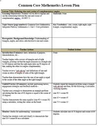 Template For Lesson Plan Common Core Math Lesson Plan Template Free